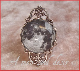 Bague Pleine Lune Planète Galaxie Cosmos Full Moon Moon Light ring jewel