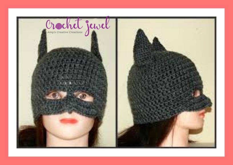 Amys Crochet Creative Creations Crochet Batman Hat All Sizes