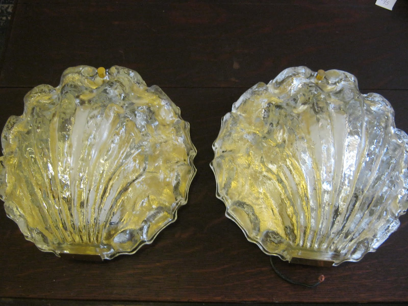 Made by Limburg Lighting of Germany circa 1970u0027s. Shell shape makes them especially fabulous in a bathroom. $150 pr. & Funk u0026 Gruven A-Z: PR. GLASS WALL SCONCES BY LIMBURG OF GERMANY