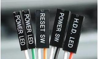 Kabel - kabel front panel merupakan kabel yang digunakan untuk mengaktifkan fungsi tombol power , restart , HDD Led yang terdapat pada casing komputer.