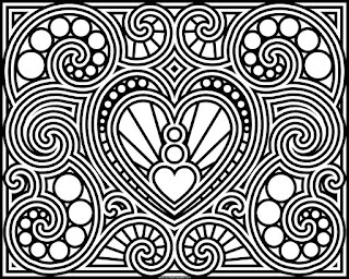 heart coloring page, available in jpg and transparent png formats #Valentine #ColoringPage #Coloring #Hearts