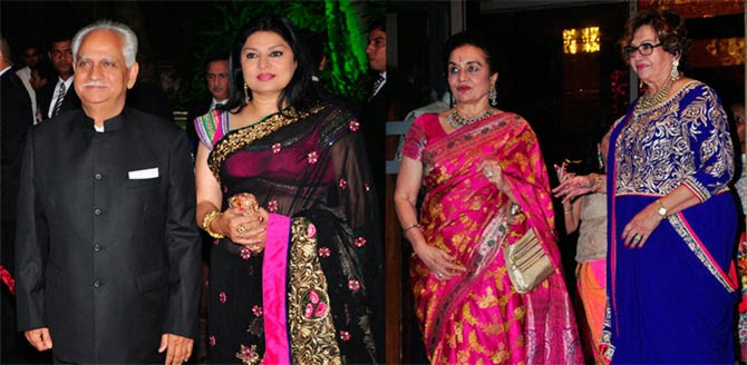 Ramesh Sippy, Kiran Juneja, Asha Parekh, Helen, Pics from Arpita-Ayush's Wedding reception