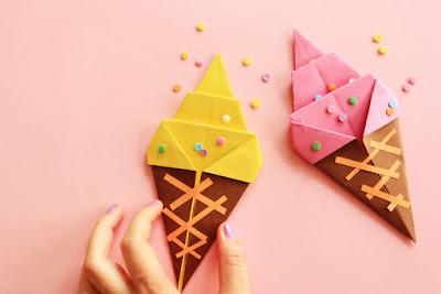 coni gelato origami