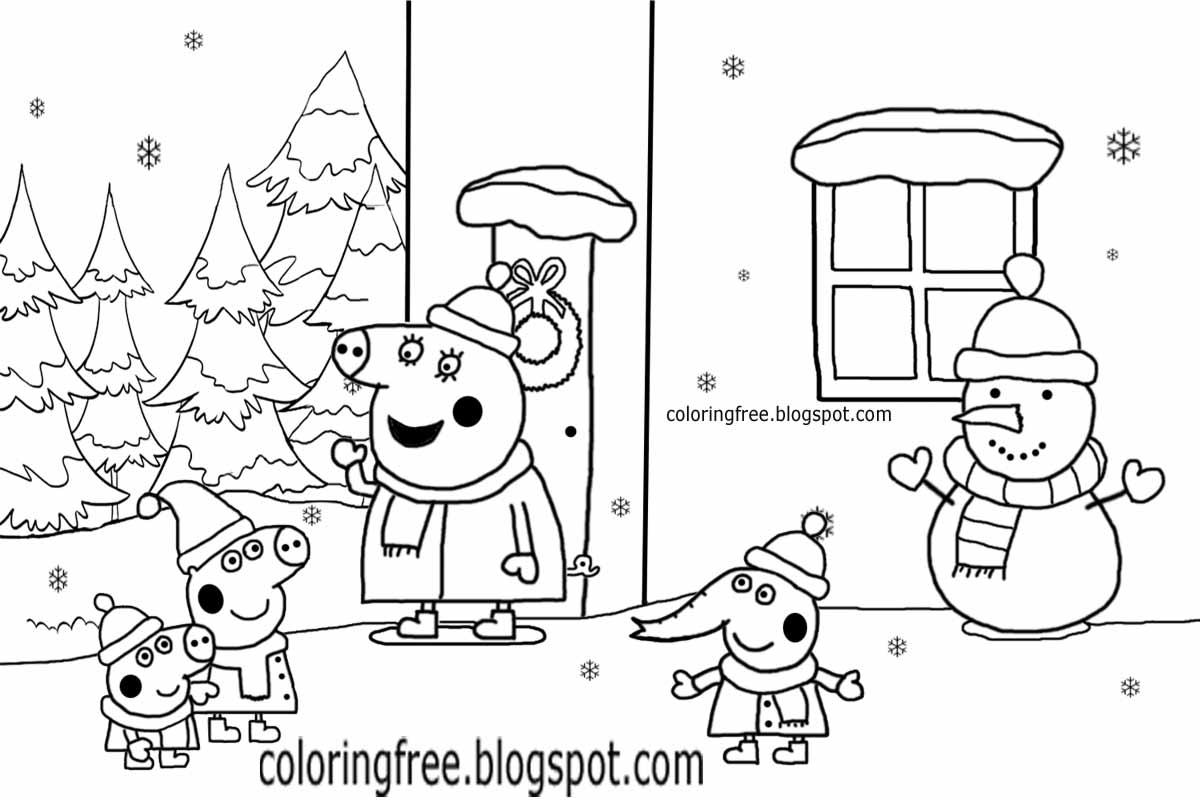 peppa pig christmas coloring pages - photo#16