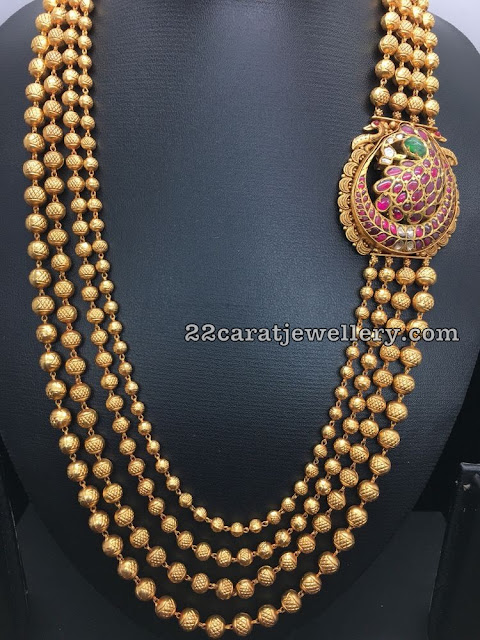 Four Layers Gold Balls Chain