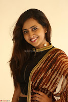 Lasya looks super cute in black choli Saree at Raja Meru Keka Press Meet ~  Exclusive 083.JPG