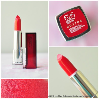 Son môi Maybelline New York ColorSensational Lipcolor Are You Red-dy 625 SM010