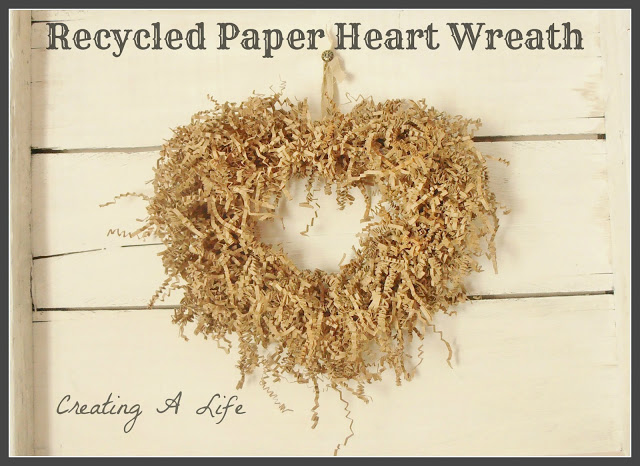 Recycled-paper-heart-wreath-by-Creating-a-Life-featured-on-Funky-Junk-Interiors