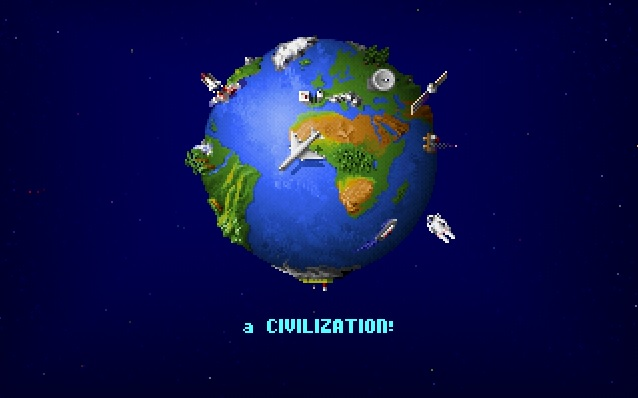 Screenshot of Sid Meier's Civilization loading screen