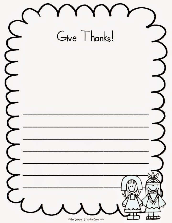Free Thanksgiving writing papers sure to inspire your students to reflect on what they are grateful for.  TeacherKarma.com