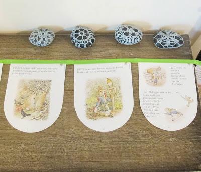 image the tale of peter rabbit bunting green beatrix potter handmade domum vindemia australia etsy
