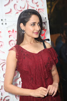 Pragya Jaiswal in Stunnign Deep neck Designer Maroon Dress at Nakshatram music launch ~ CelebesNext Celebrities Galleries 093.JPG