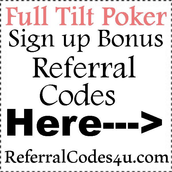 Full Tilt Poker Referral Code 2016-2021, Full Tilt Poker Bonus Codes, FullTiltPoker.com Coupons
