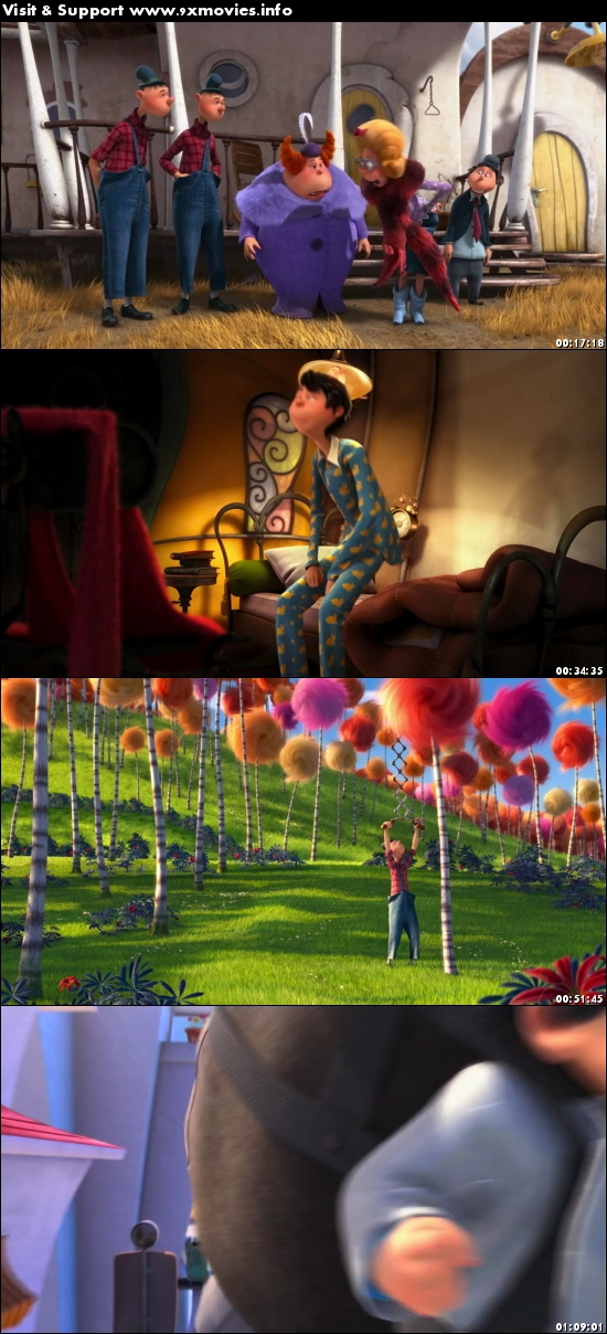 The Lorax 2012 Dual Audio Hindi 720p BluRay 750mb
