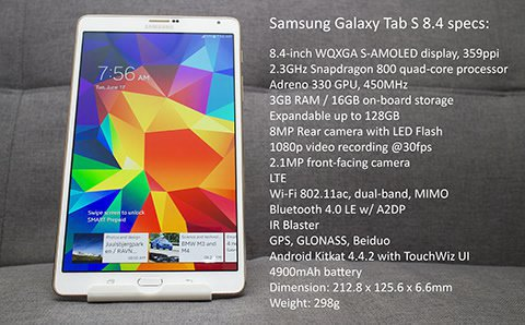 Galaxy Tab S 8.4 Specification