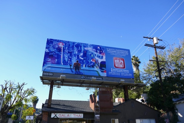Ralph Breaks Internet Golden Globe billboard