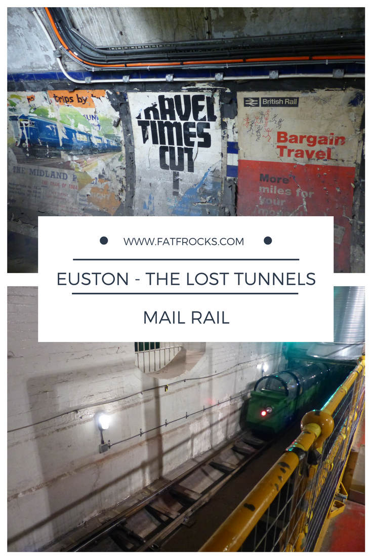 This is a picture of abandoned tunnels at Euston station - The Lost Tunnels tour