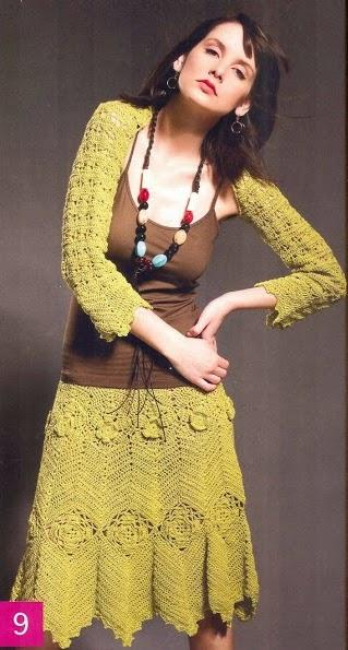 Chaleco + Falda a Crochet