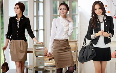 model baju kerja korea