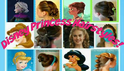 6 easy Disney Princess hair tutorials, so easy!
