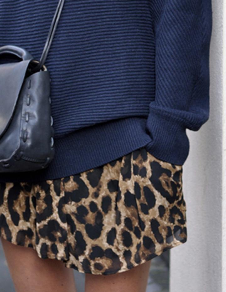 leopard print trend skirt
