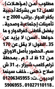 وظائف وسيط الاسكندرية - امن