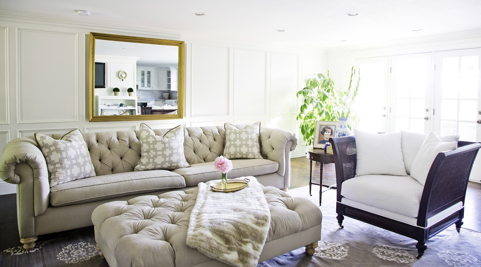 White + Gold My Living Room Update