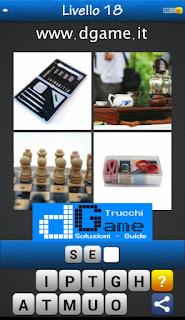 PACCHETTO 7 Soluzioni Trova la Parola - Foto Quiz con Immagini e Parole livello 18