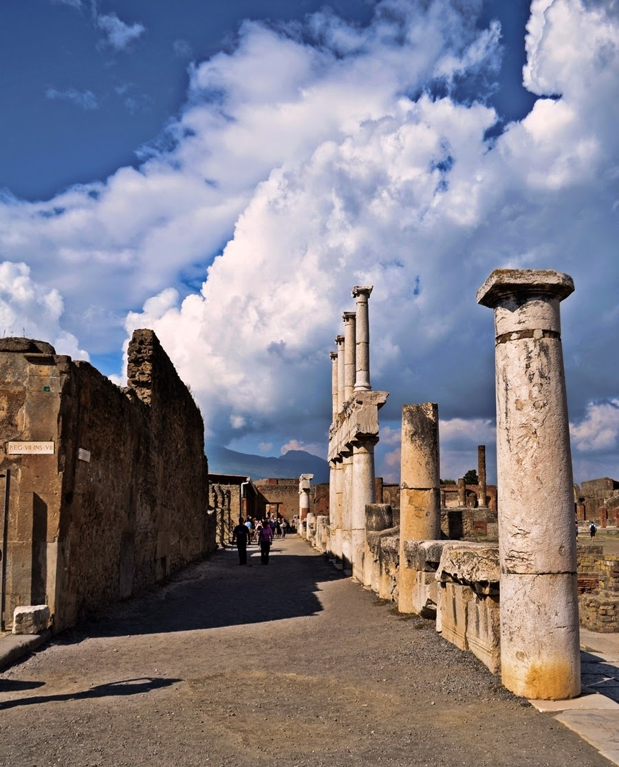 Pompeii Forum ruins in Italy