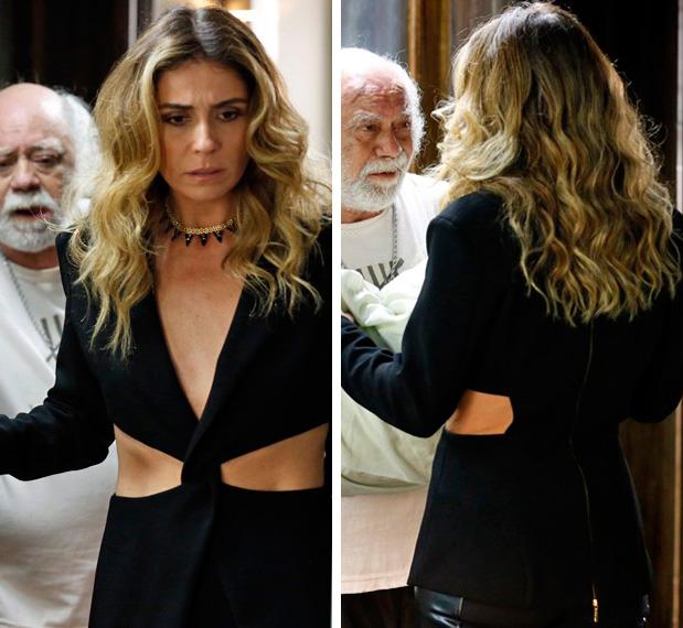 , Figurino Atena (Giovanna Antonelli) A regra do jogo, blazer