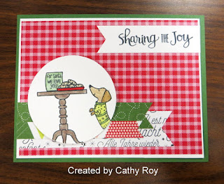 Stampin' Up! Ready for Christmas Card by Cathy Roy ~ 2017 Holiday Catalog