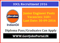 IOCL Recruitment 2016 For 160+ Non-Executive Posts Apply Online Here