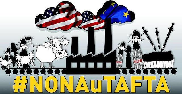 TAFTA : Neuf jours après le référendum sur l'accord d'association UE-Ukraine, lors duquel les Néerlandais ont voté non, 100 000 citoyens ont signé une pétition pour réclamer un référendum sur le TTIP. 300 000 signatures sont nécessaires pour organiser un vote non contraignant sur le sujet, comme ce fut le cas pour le plébiscite sur l'Ukraine.