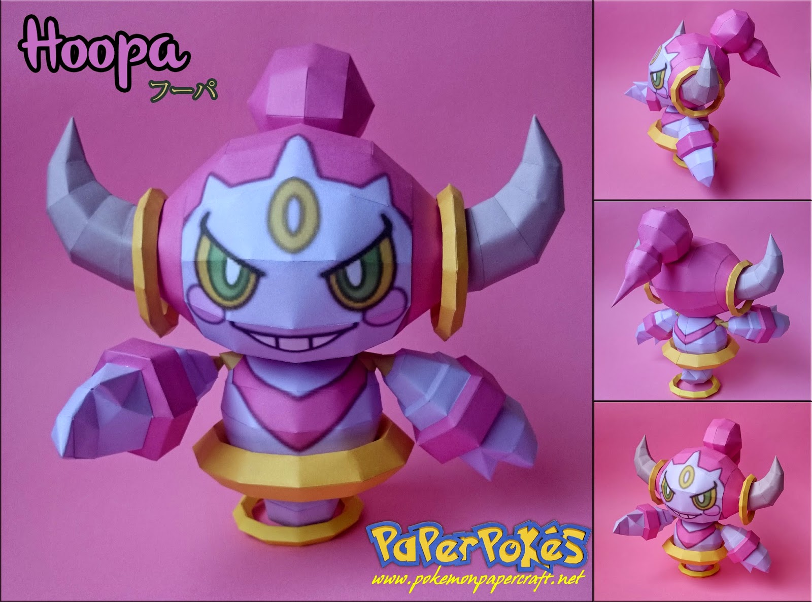 Pokemon Hoopa Papercraft Confined Version