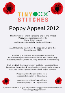 Tiny Stitches Poppy Appeal 2012