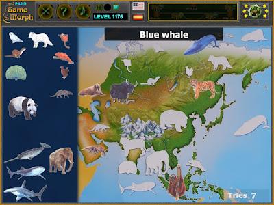 Животните на Азия Пъзел