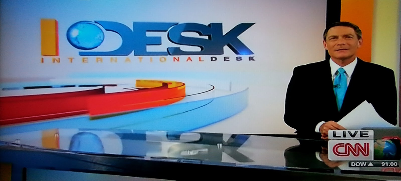 International Desk On Cnn Updates Its Air Look And Imaging With More Colour Spinning Gl Ribbons In The Logo