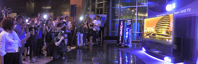 unveiling of LG's 105-inch Curved SUHDTV in Ayala Museum