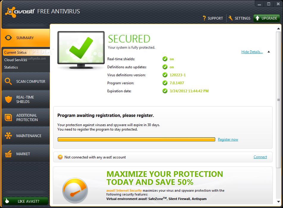 Avast antivirus home edition 6. 0. 11 + serial keys {reddragon.