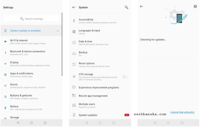 Cara Update Software di Telepon OnePlus Anda 2