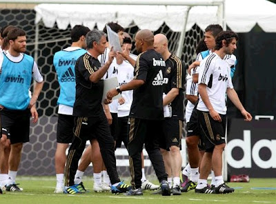 Mourinho in the Real Madrid's first training day