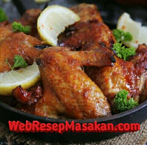 Baked Chicken Wings, Baked spicy chicken wings, Resep Baked Chicken Wings,