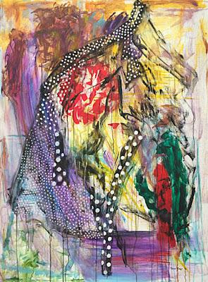 Oana-Singa-Dot-Silhouette-2018-acrylic-on-canvas-48x36inches