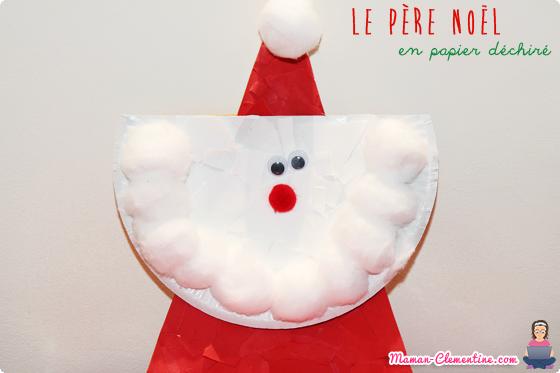Lart Est Un Jeu Denfant 11 Le Père Noël En Papier Déchiré Diy