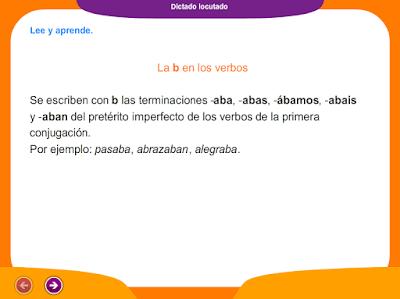 http://www.ceiploreto.es/sugerencias/juegos_educativos_4/8/5_Dictado_la_b_en_los_verbos/index.html