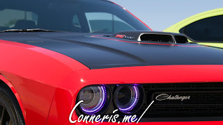 Dodge Challenger RT Scat Pack Shaker Purple Halos