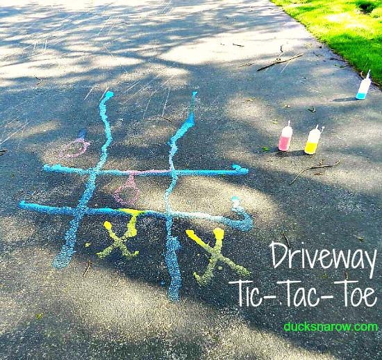 family fun, DIY, summer fun, kids, playtime, tic tac toe