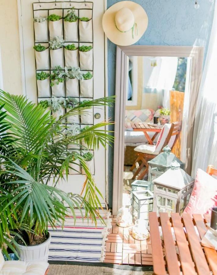 Decoraci n f cil paso a paso para decorar un peque o balc n - Decorar balcon pequeno ...