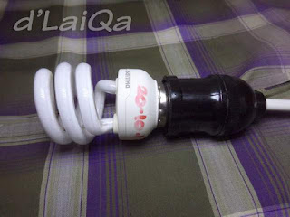 pasang lampu ke fitting