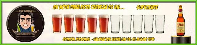 Cerveza LEGADO DE YUSTE Valoración